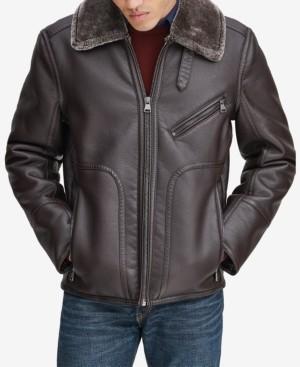 Andrew Marc Men's Fleece-Collar Jacket