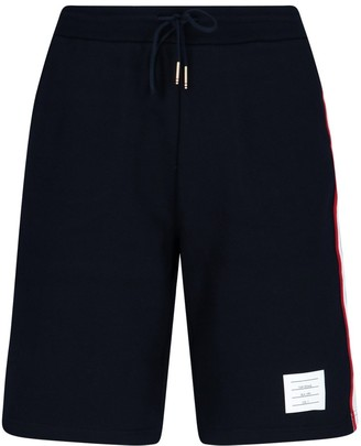 Thom Browne Signature Stripe Jersey Shorts