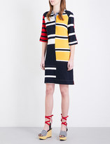 Tommy Hilfiger Gigi Hadid patchwork stretch-crepe shirt dress