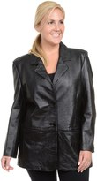 Excelled Plus Size Excelled Nappa Leather Jacket