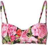 Dolce & Gabbana rose print bikini top - women - Polyamide/Spandex/Elastane - II