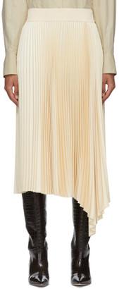 Joseph Off-White Sabin Plisse Mid-Length Skirt