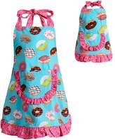 Dollie & Me Girls 4-16 Ruffled Donut Apron Set