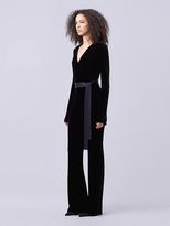 Diane von Furstenberg Velvet Wrap Jumpsuit