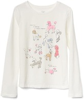 Gap Embellished graphic long sleeve tee