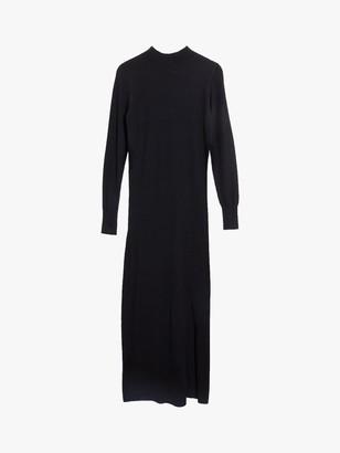 Oasis Knitted Midi Dress, Black