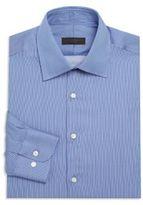 Ike Behar Striped Cotton Dress Shirt