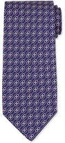 Salvatore Ferragamo Interlocking Gancini-Print Silk Tie