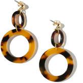 Vanessa Mooney Tortoise Shell Hoop Earrings