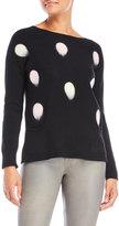 Avalin Polka Dot Pocket Sweater