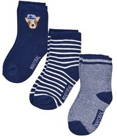 Mayoral Pack of 3 Navy Dog and Stripe Socks
