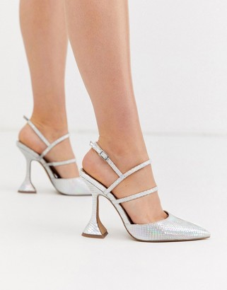ASOS DESIGN Pizzazz high heels in iridescent