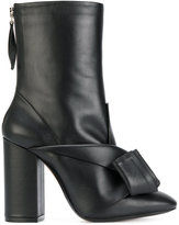 No.21 knot detail boots - women - Leather - 36