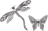 Accessorize Dragon & Butterfly Brooch Pack