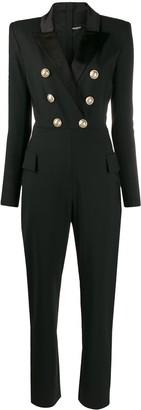 Balmain Button-Front Jumpsuit