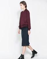 Zara Indigo Pencil Skirt