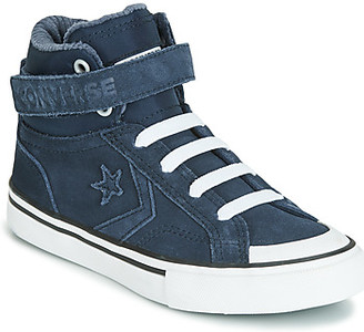 Converse PRO BLAZE STRAP SPACE RIDE SUEDE HI girls's Shoes (High-top Trainers) in Blue