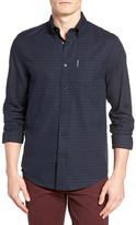 Ben Sherman Houndstooth Long Sleeve Regular Fit Shirt