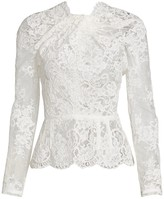 Unttld Lace Peplum Top