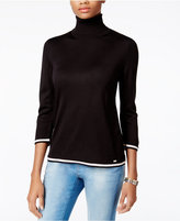 Tommy Hilfiger Colorblocked Turtleneck Sweater, Only at Macy's