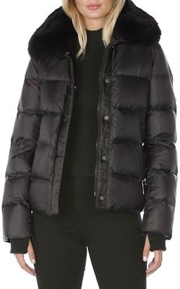 Dawn Levy Vera Fur & Down Puffer Coat