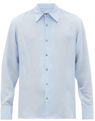 73 London - Silk-voile Shirt - Mens - Light Blue