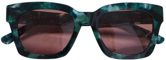 Ganni Green Plastic Sunglasses