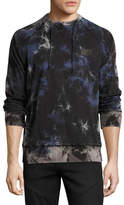 PRPS Multi-Stained Raglan Sweatshirt, Black