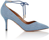 Aquazzura Women's Allure Ankle-Tie Pumps-LIGHT BLUE