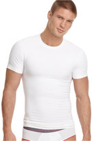 2xist Men's Undewear, Body Shaper SHAPE FORM Slimming Tagless Crew Neck T Shirt