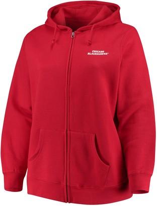 Majestic Womens Red Chicago Blackhawks Plus Size Full-Zip Hoodie