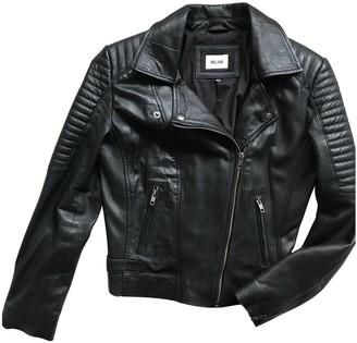 Bel Air Black Leather Leather Jacket for Women
