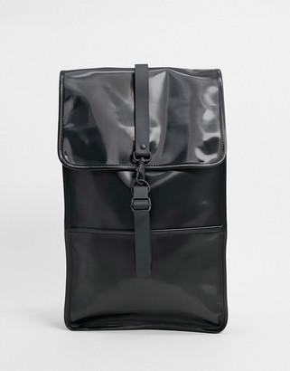 Rains 1220 backpack in shiny black