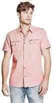 GUESS Men's Deksgure Short-Sleeve Ripstop Shirt