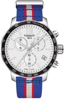 Tissot Men's Quickster Chronograph NBA Detroit Pistons Watch, 42mm