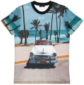 N°21 All Over Print Cotton Jersey T-Shirt