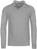 Soulcal Quarter Button Fastening Knitted Jumper Mens