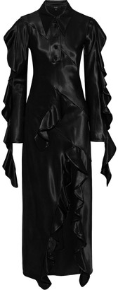 Ellery Temptress Ruffle-trimmed Paneled Satin Maxi Dress