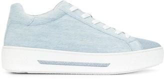 Rene Caovilla Crystal Embellished Denim Sneakers