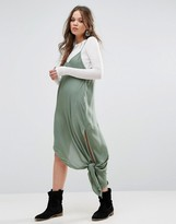 Free People Knotted Tie Up Slip Dress