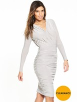 AX Paris Ruched Long Sleeve Bodycon