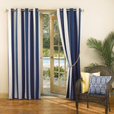 Sun Zero Sun ZeroTM Leeward Indoor/Outdoor Woven Stripe Grommet-Top Curtain Panel