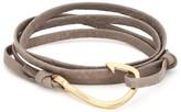 Miansai Taupe Hook Leather Bracelet