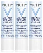 Vichy Aqualia Thermal Lip Balm for Soothing and Repairing, 3-Pack, 0.15 Fl. Oz.