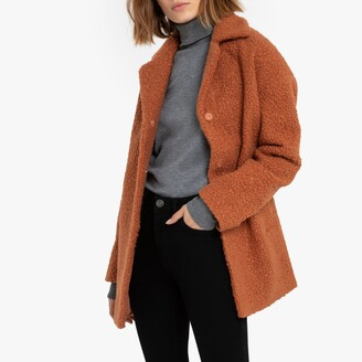 La Redoute Collections Mid-Length Boucle Coat with Pockets