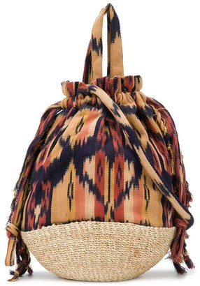 Ulla Johnson Anita tribal-print bucket bag