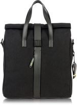 Bric's Black Nylon and Leather Tote Bag