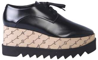 Stella McCartney Elyse Logo Monogram Platform Lace Up Shoes