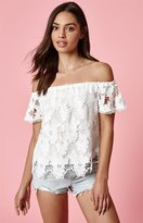 KENDALL + KYLIE Kendall & Kylie Crochet Off-The-Shoulder Top