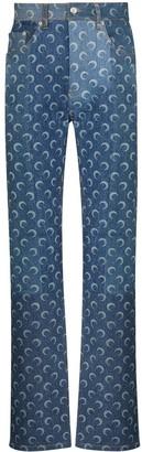 Marine Serre Crescent Moon jeans